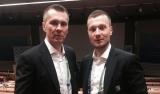 Trenerzy Dębek oraz Marzec na konferencji w...