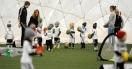 Już kilkuletnie dzieci mogą grać w piłkę...